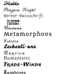 Schriftarten für Equizaum