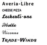 Schriftarten für die Personalisierung